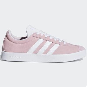 adidas Shoes - New Adidas VL Court 2.0 Suede Pink White 3 Stripes